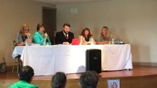 The panel at the Improving Young People's Mental Health Services forum