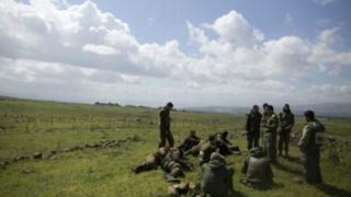 نیروهای اسرائیلی از سال ۱۹۶۷بخش هایی ازبلندی ها جولان را به تصرف خود درآوردند
