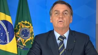 Jair Bolsonaro durante pronunciamento