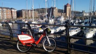 Bike at marina
