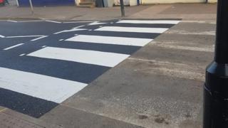 Zebra crossing in Cold Overton Road