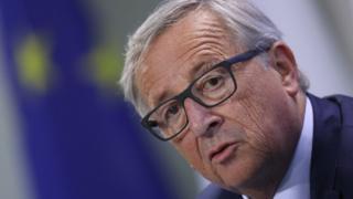Avrupa Komisyonu Başkanı Jean-Claude Juncker 29 Haziran'da Berlin'de AB liderleri toplantısında.
