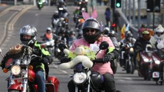 Many bikers