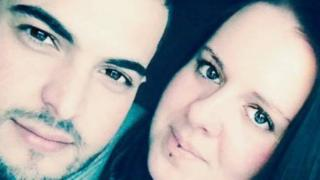 Bashir Naderi with his girlfriend of two years, Nicole Cooper