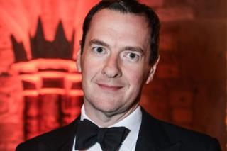 Former Chancellor George Osborne at the Guildhall