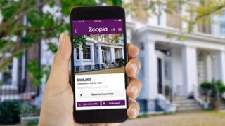 Zoopla on smartphone