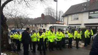 Police on Abbeydale Park Rise