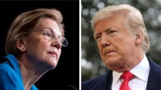 Elizabeth Warren and Donald Trump