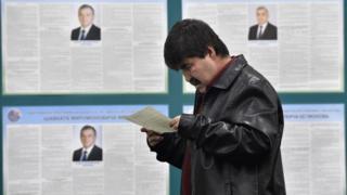 Избирательный участок в Узбекистане
