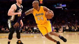 Kobe Bryant playing basketball
