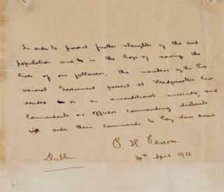 Patrick Pearse letter