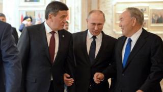 Кыргызстандын, Орусиянын жана Казакстандын президенттери