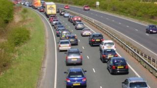 Traffic jam in York