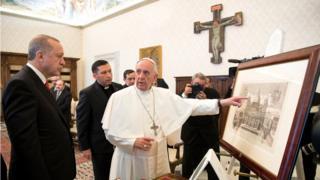 Erdoğan ve Papa