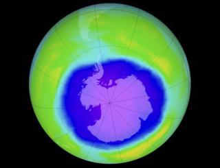 Карта озонового слоя