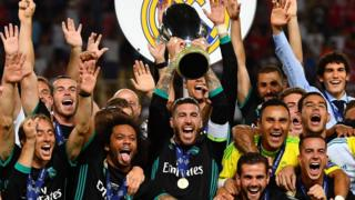 Real Madrid beat Manchester United in Super Cup