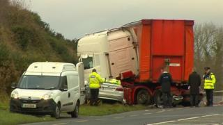The crash happened on the N25 near New Ross, County Wexford