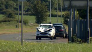 Scene of Newtownard's collision