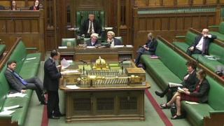 Stephen Crabb watches as MPs debate