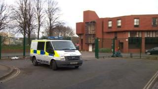 Police outside Madani Academy