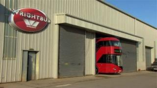 Wrightbus factory in Ballymena