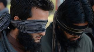 alleged IS fighters captured in Nangarhar