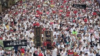 香港示威现场