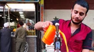 بائع العصير في دمشق
