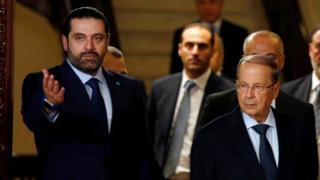 سعد الحريري يع العماد عون