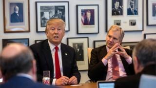 Donald Trump with NYT published Arthur Sulzberger Jr, 22 November 2016