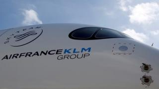 Aircraft with Air France-KLM logo. File photo