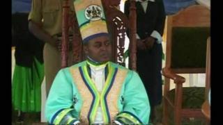 Charles Mumbere alitawazwa kuwa mfalme wa Rwenzururu mwaka 2009