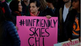 Demonstrators protest United Airlines at O'Hare International Airport on April 11, 2017 in Chicago, Illinois