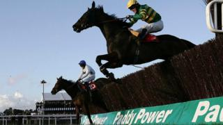 Paddy Power branding at horse racing