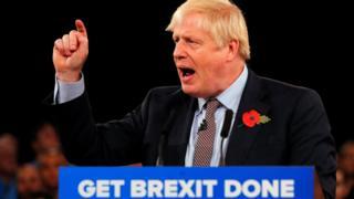Boris Johnson at Birmingham rally
