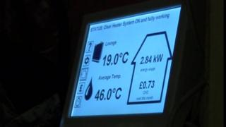 Heating system display