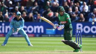 England v Bangladesh in the 2019 Cricket World Cup at Sophia Gardens, Cardiff