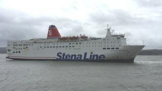 A Stena Line ferry in Fishguard