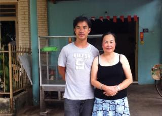 Picture of Tat Way Lay and his mother in Ho Chi Minh City in early 2015