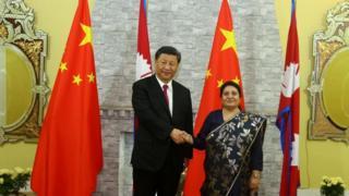 चिनियाँ राष्ट्रपति र नेपालकी राष्ट्रपति