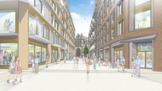 Artist impression of Cathedral Quarter development