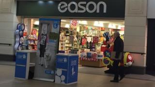 Eason's book shop in Fairhill shopping centre
