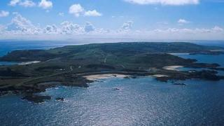 Alderney seen from the air