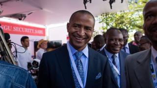 """L'annulation de sa condamnation est """"un soulagement"""" pour Moïse Katumbi (en photo), selon son porte-parole."""
