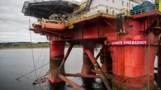 Greenpeace protest on rig