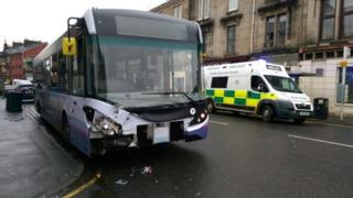 Crash scene in Gateside Street