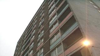 Newport tower block