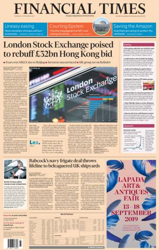 FINANCIAL TIMES 12 SEPTEMBER 2019