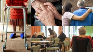 Care home composite picture (generic photos)