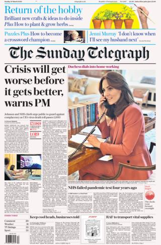 Sunday Telegraph front page